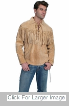 Cowboy Jacket With Fringe - Suede
