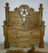 "Western Bedroom Furniture ""Texas Chipped Bed"""