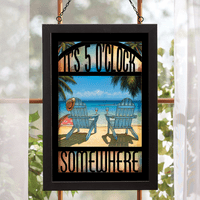 5 O'clock Somewhere Stained Glass Art