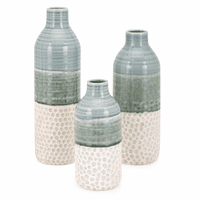Abstract Beachscape Vases - Set of 3