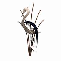 Abstract Heron Head Down Wall Art