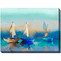 Abstract Sails Indoor/Outdoor Canvas Art
