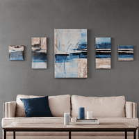 Abstract Sand & Sea Canvas Art - 5pcs