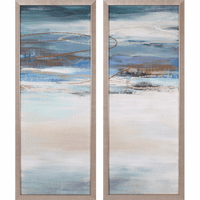 Abstract Seascape IV Canvas Art - Set of 2
