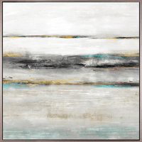 Abstract Tides IV - Framed Canvas Art