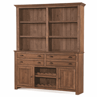 Acorn Brown Mission Buffet and Hutch