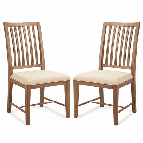 Acorn Brown Mission Side Chairs - Set of 2