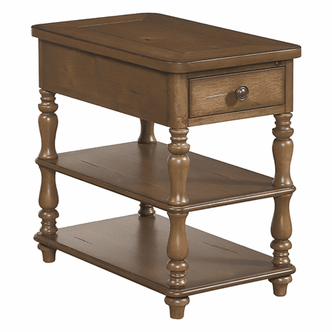 Acorn Brown Spindle Chairside Table