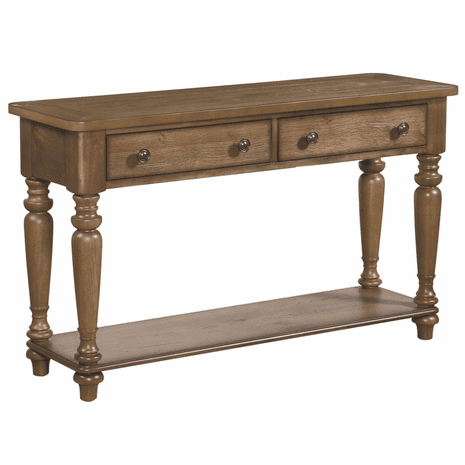Acorn Brown Spindle Console Table
