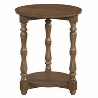 Acorn Brown Spindle Round End Table