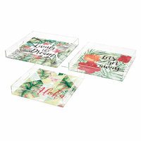Acrylic Trays - Set of 3
