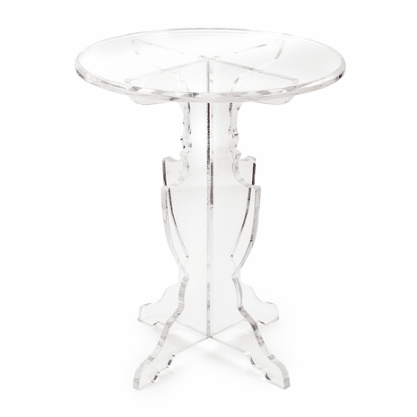 Adriana Clear Acrylic Accent Table