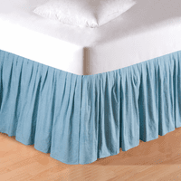Aegean Grid Bedskirt - Twin