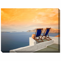 Aegean Sunset Indoor/Outdoor Canvas Art