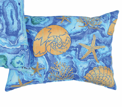 Agate Sea Shell Pillow