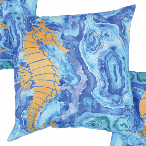 Agate Seahorse Pillow - OVERSTOCK