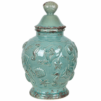 Aged Ocean Canister - OVERSTOCK