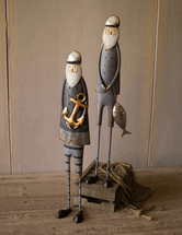 Ahoy Fishermen Statuary - Set of 2
