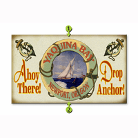 Ahoy There Drop Anchor Sailboat Personalized Signs