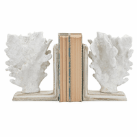 Alabaster Coral Bookends
