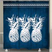 Alabaster Pineapples Shower Curtain