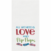 All We Need Waffle Weave Towels - Set of 6