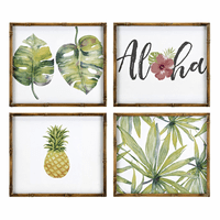 Aloha Framed Prints - Set of 4