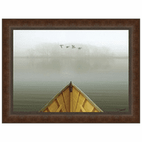 Alone in the Mist 3 Framed Print
