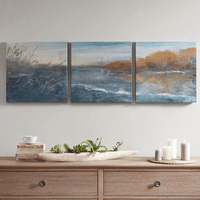 Along the Riverbank Canvas Art