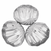 Aluminum Clam 3-Bowl Set