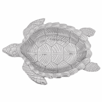 Aluminum Sea Turtle Oval Bowl