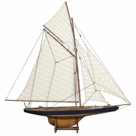 America's Cup Columbia 1901 Model Sailboat - Small