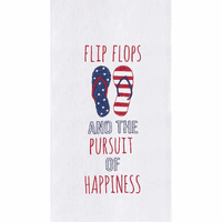 American Flip Flops Flour Sack Towels - Set of 6