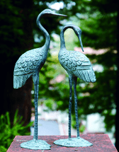 Amorous Crane Sculptures - Set of 2
