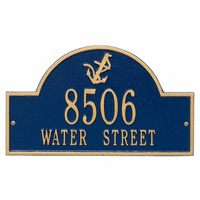 Anchor Arch Address Plaque - Blue & Gold