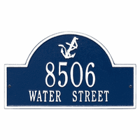 Anchor Arch Address Plaque - Blue & White