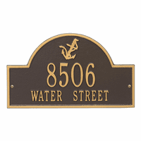 Anchor Arch Address Plaque - Bronze & Gold