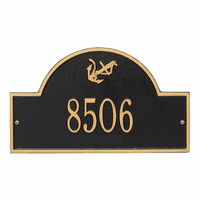 Anchor Arch House Number Plaque - Black & Gold
