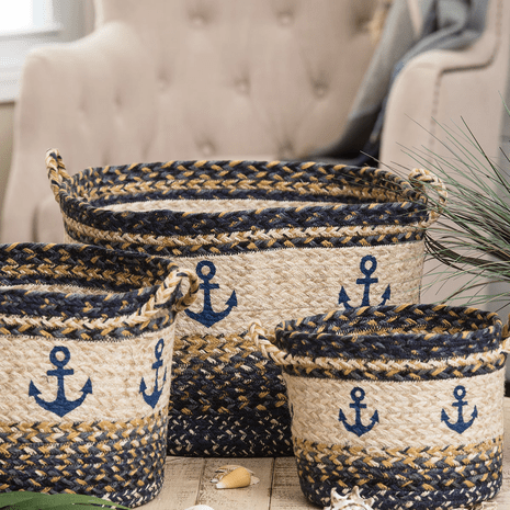 Anchor Braided Utility Basket - Large