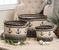 Anchor Braided Utility Baskets