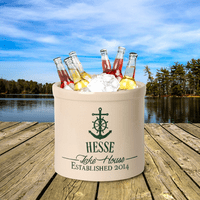 Anchor Lake House Personalized Crock - Green