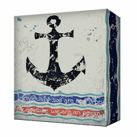 Anchor Metal Box Wall Art