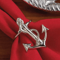 Anchor Napkin Ring - CLEARANCE