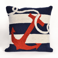 Anchor Navy Indoor/Outdoor Pillow