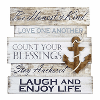 Anchor Rules Wood Wall Art