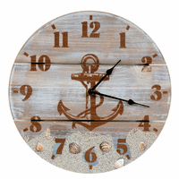 Anchor & Shells Wall Clock