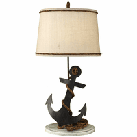 Anchor Table Lamp with Rope Accent