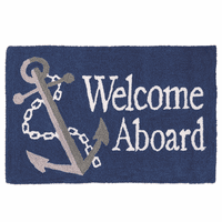 Anchor Welcome Hooked Rug