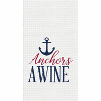Anchor Wine Waffle Weave Towels - Set of 6