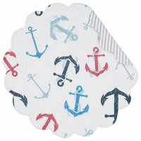 Anchored at Sea Round Placemats - Set of 6